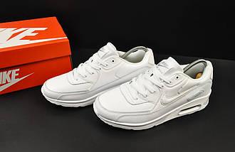 Мужские Кроссовки Nike Air Max 90 арт 20604 (мужские, белые), фото 3