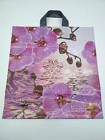 """Пакет ламинированный с петлевой ручкой средний """"Орхидея """"(40х42)  KVS (50 шт)"""