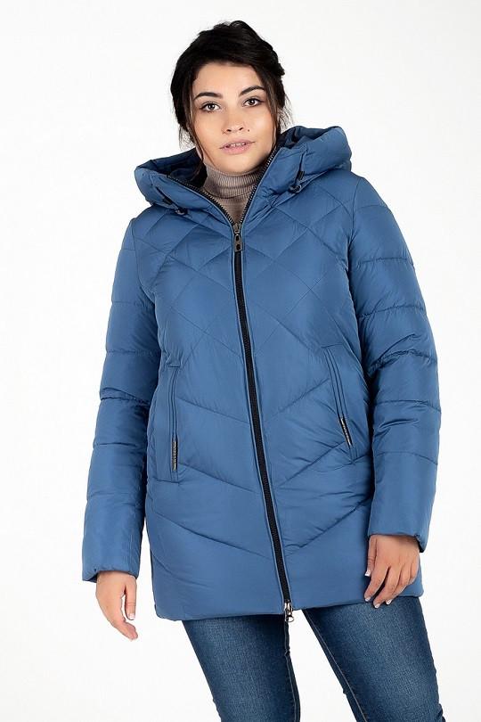 Женская теплая куртка Мелани джинс (48-58)