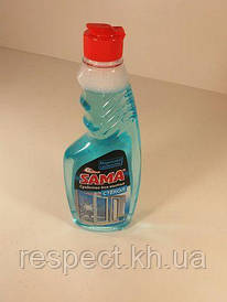 Моющее средство для стекла и зеркал  САМА морозная свежесть 500г (запаска) (1 шт)