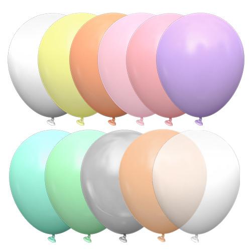 Латексные шары 12' декоратор+пастель Kalisan Турция 01 ассорти (30 см), 100 шт