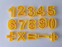 Набор кондитерский пластмассовый Цифры L 4,5 cm; L 6 cm
