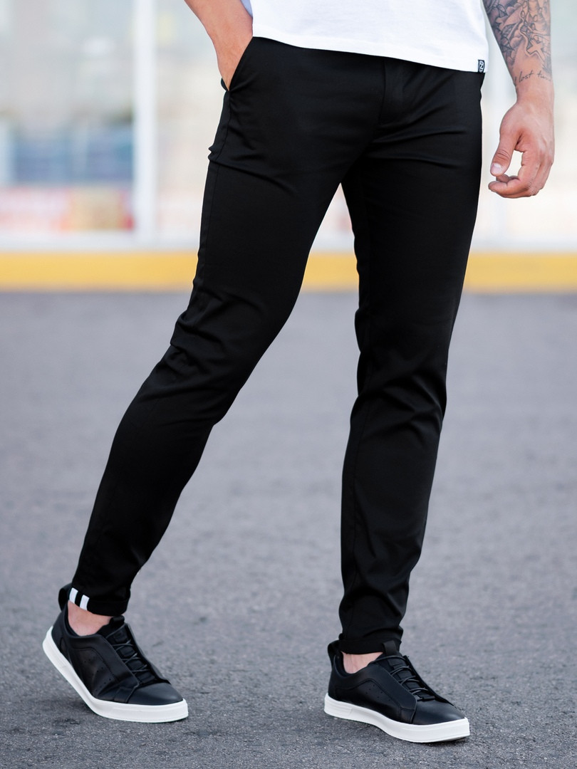 Мужские классические Брюки BEZET Chinos black '19, мужские весенние брюки, черные мужские классические брюки