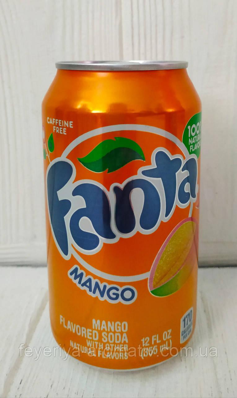 Газированный напиток содовая Fanta Mango 355мл (США)