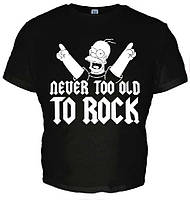 "Футболка ""Never too old to Rock"""