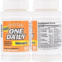 21st Century, Комплекс витаминов и минералов, Витаминный комплекс One Daily для женщин, 100 таблеток