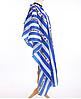 """Пеньюар для стрижки волос """"Barbershop"""" вертикальная сине-белая полоса"""