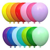 Латексные шары 12'' пастель Kalisan Турция 00 ассорти (30 см), 100 шт