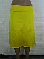 Спідниця жіноча атлас жовта 42-48