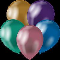 Латексные шары 12'' хром Kalisan Турция 59 ассорти (30 см), 50 шт