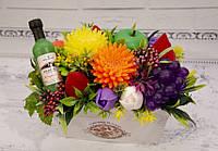Букет цветов из мыла, фруктово-цветочная композиция