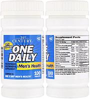 21st Century, Комплекс витаминов и минералов, Витаминный комплекс One Daily для мужчин, 100 таблеток