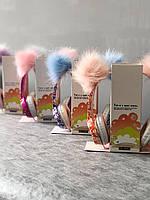 Детские проводные Наушники с микрофоном ушками короной гарнитура
