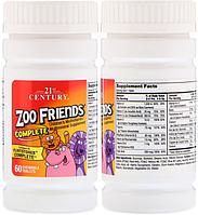 21st Century, Комплекс витаминов и минералов, Мультивитамин Zoo Friends для детей, 60 жевательных таблеток