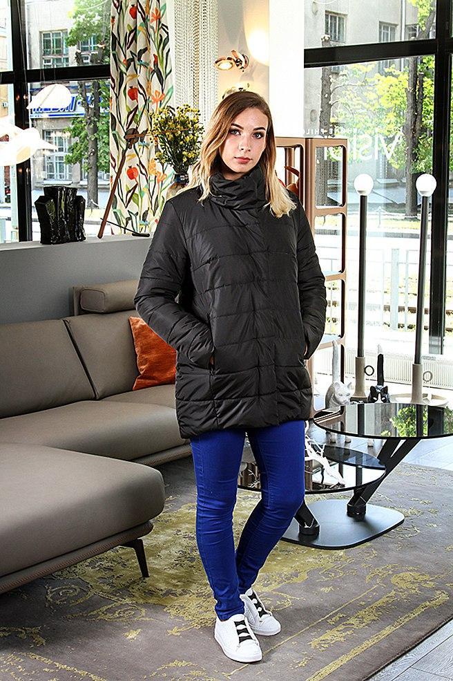 Женская черная курточка (весна-осень), фото 1