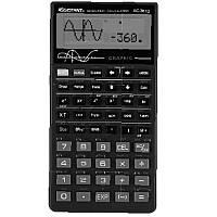 Калькулятор инженерный Assistant AC-3612, 10 разр. мантиссы и 2 разр. экспоненты, плоский, 142х76х14, черный, с пластиковой крышкой