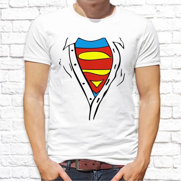 """Мужская футболка с принтом по мотивам фильма """"Супермeн (Superman)"""" Push IT"""