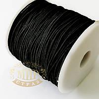 Резинка-шнур,толщина 1 мм, цвет Черный, 1м