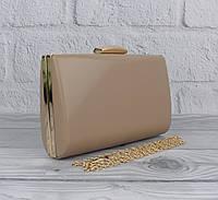 Вечерний клатч Rose Heart 6988 темно-бежевый, сумочка на цепочке, фото 1