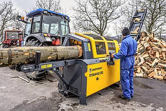 Процессор для производства дров UNIFOREST TITAN 43/20 STANDARD с цепной пилой (Словения)