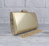 Вечерний клатч Rose Heart 6988 золотистый, сумочка на цепочке, фото 1