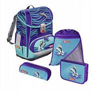 Шкільний рюкзак для хлопчиків HAMA Step By Step LIGHT II HAPPY + 2 пенала + сумка для спортивного взуття