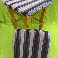 Чехлы на квадратные табуреты 33*33см (комплект) текстурная полоса, фото 1