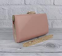 Вечерний клатч Rose Heart 6988 пудровый, сумочка на цепочке, фото 1
