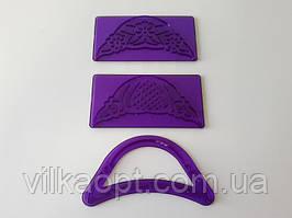 Оттиск кондитерский пластмассовый фиолетовый Ажурный 11*5,5 cm