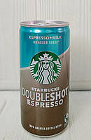 Кофейный напиток Starbucks Doubleshot Espresso + Milk без сахара 200ml (Дания)