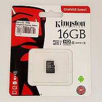 Карта памяти microSD 16Gb Class 10 Kingston