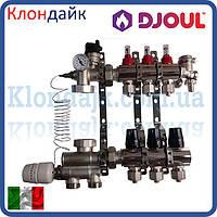 Коллектор для теплого пола на 4 контура с нижним подключением Djoul (Италия)