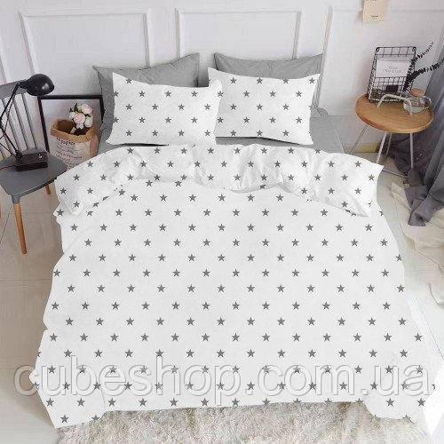 Комплект полуторного постельного белья GREY STAR GREY (хлопок, ранфорс)