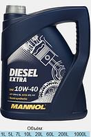Полусинтетическое моторное масло Mannol Diesel Extra 10W40 5L