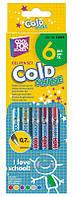 Набор цветн. ручек, гелевые металлик, 6 цв., Cool for school Cold Shine, (0,7мм)