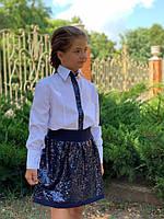 Детская юбка из пайеток в школу для девочки, фото 1