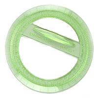 Транспортир пласт., прозрачный цветной, Спектр 360 градусов, круговой