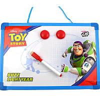 Доска детская магнитно-маркерная, 30х21см, рамка - пластик, Kite Toy Story, с алфавитом, + маркер, 2 магнита