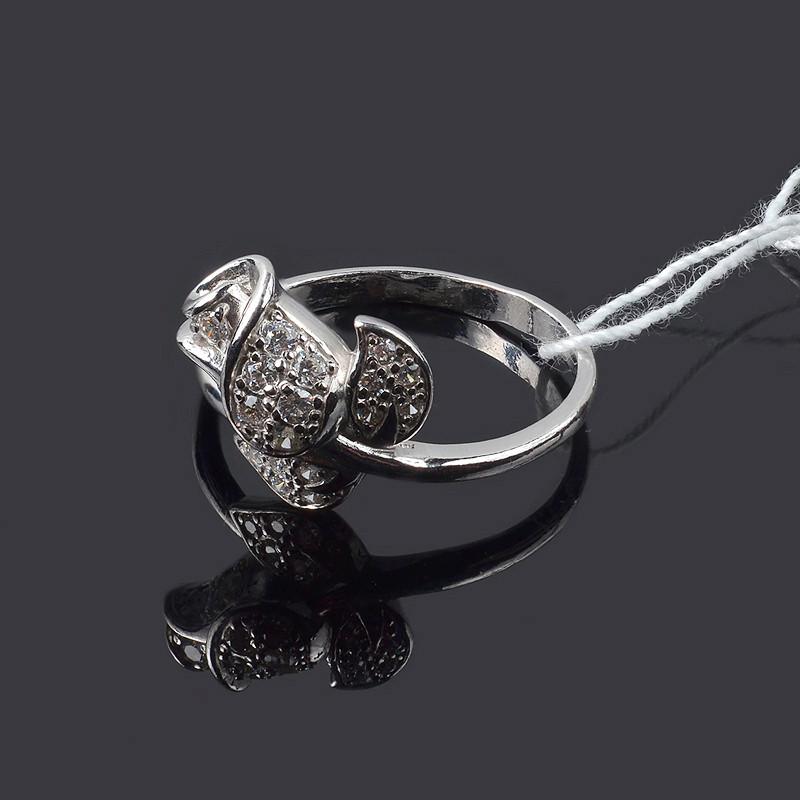 Серебряное кольцо Роза17 размер