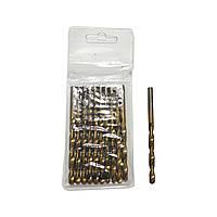 Свердло по металу  5 мм, титанове покриття, циліндричний хвостовик HorsAY Hard