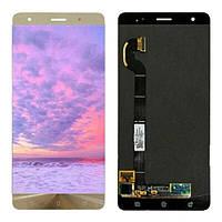 Дисплей для Asus ZenFone 3 Deluxe 5.7 (ZS570KL) с тачскрином золотистый, Shimmer Gold, Оригинал Amoled