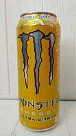 Газированный энергетический напиток Monster Citron Ultra 500мл (Великобритания)