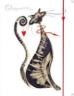 Папка на резинке А4, Leo Glamour cats, пластик, полноцветная печать