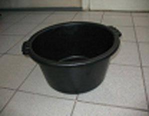 Таз пластиковый садово-огородный  черный 19литра  (полиэтилен) (1 шт)