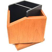 Подставка наст. (пустая), 5 отдел., дерев., квадратная, светлая вишня, вращается на 360, Bestar