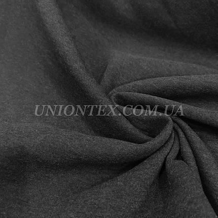 Футер трехнитка с начесом темно-серый меланж, фото 2