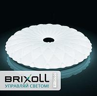 Светодиодная люстра-светильник настенно-потолочный накладной BRIXOLL с пультом управления CNT-70W-05