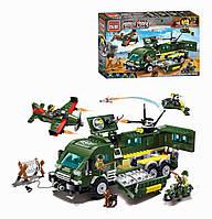 """Конструктор военный (аналог Лего) Brick 1709 Enlighten """"Атака на Бронированный Автомобиль"""" 446 дет"""