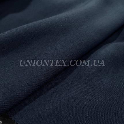 Футер трехнитка с начесом темно-синяя, фото 2