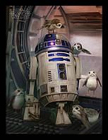 Постер Pyramid International Постер в раме Star Wars The Last Jedi (R2-D2 & Porgs) / Звёздные войны SKU_6080
